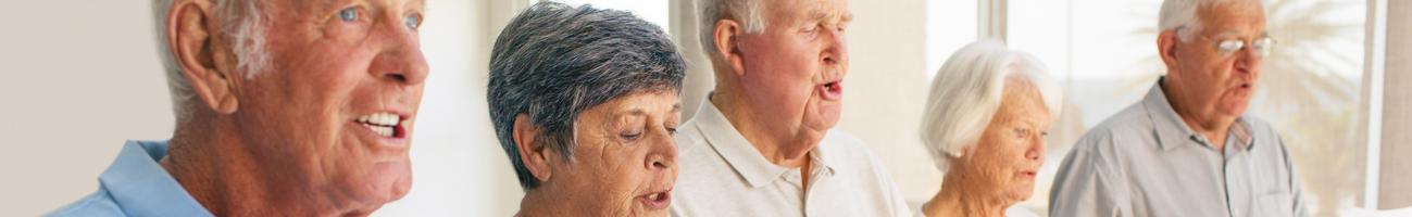 benefits of living with senior community.
